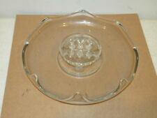 Vintage Crystal Clear 9 Hole Center Table Bowl with Flower Frog Vf