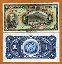Bolivia, 1 Bolivano, L. 1928, Pick 118, aUNC