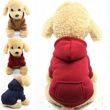 Pet Dog Hooded Coat Soft Warm Puppy Cat Sweatshirt Clothes Costume Supplies New