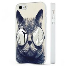 Cat In Sun Glasses Funny WHITE PHONE CASE COVER fits iPHONE