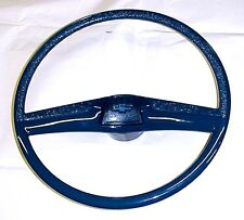 1969 1970 1971 1972 DRK Blue Steering Wheel & Bowtie Horn Button Cap Chevy Truck