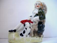 Vintage Japan Pekingese/Japanese Chin Dog Porcelain Statue Figurine