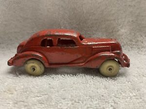 """Vintage Cast Iron Toy Sedan with rubber tires  4"""" #2257 1930's"""