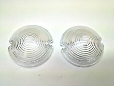 1953 Chevy Belair 210 150 Parking Light Lamp Lens Glass Pair