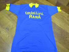 VINTAGE TORTELLINI RANA WOOL SHORT SLEEVE CYCLING JERSEY 5 BLUE YELLOW 369974b88