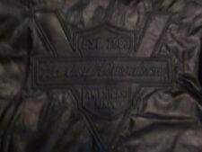 RARE - VINTAGE HARLEY DAVIDSON HERITAGE BLACK LEATHER JACKET - MEN'S MEDIUM !!