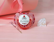 Avent Personalized pacifier with Swarovski Crystals. Baby Shower. Bling pacifier