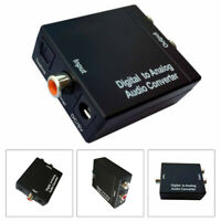 Digital Optical Coaxial Toslink To Analog RCA L/R Audio Converter Adapter W/ USB