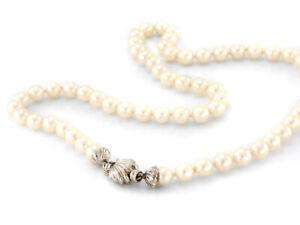 Perlenkette mit 750'er Weißgold Verschluss  , 47cm