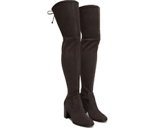 New in Box FRYE Julia Smoke Thigh High Boots Suede Leather Stretch Womens $598