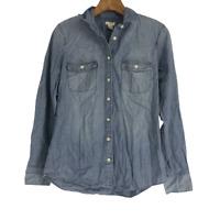 J.Crew Womens Jacket Long Sleeves Button Denim Jean Top Shirt Extra Small XS