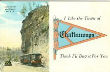 Chattanooga TN James Point and Signal Mt. R.R. Pennant Greetings from Chatanooga