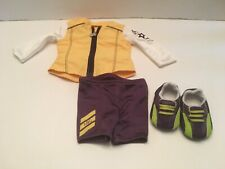 American Girl Doll Cycling Outfit Jersey Jacket Shorts Biking Shoes