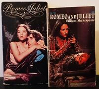 Romeo and Juliet 1968 film (VHS and Paperback) Leonard Whiting, Olivia Hussey