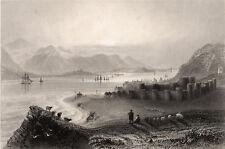 Beaumaris 1841 James Charles Armytage-William Henry BARTLETT Galles engraving