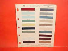 1961 LINCOLN CONTINENTAL CONVERTIBLE SEDAN PAINT CHIPS COLOR CHART BROCHURE 61