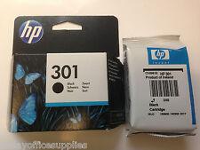 Genuine HP 301 Black Ink Deskjet 1000 1510 3050A 2540 2510 CH561EE VAT included