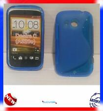 Pellicola+Custodia cover case WAVE BLU per HTC Desire C