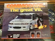 COMMODORE THE GREAT V8 POSTER SIGNED BY WAYNE GARDNER 44 X 56cms