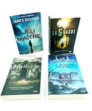 Lot 4 Livres - Labyrinthe / Le jeu du Maître (James Dashner) / La 5è vague...