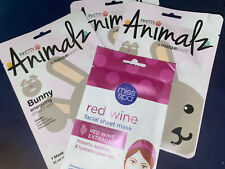 (1) Miss Spa Red Wine Extract/ (3)Pretty Animals By Masque Bar Sheet Mask