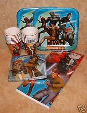 """STAR WARS Rebels Party Pack for 16: 9"""" Plates/Cups/Tablecover/Napkins"""