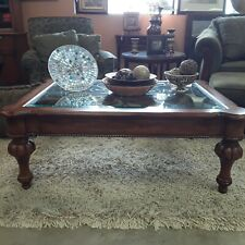 Ethan Allen Tuscan Style Coffee Table Alder Deveraux Iron