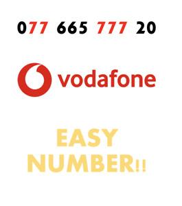 Vodafone Sim Card Easy Mobile Number GOLD VIP Fancy '077 665 777 20' EASY NUMBER