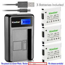 Kastar Battery LCD Charger for Canon NB-11L NB-11LH & Canon IXUS 125 HS IXUS 132