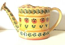 ITALICA ARS ITALIAN POTTERY WATERING CAN HAND PAINTED YELLOW VINTAGE