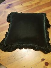 Ralph Lauren Dark Green Velvet Throw Pillow 17x17 EUC