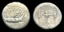 MARK ANTONY (Legionary coinage) Silver Denarius  (LEG XI) - Patrae