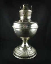 B & H Oil Table Lamp Nickle Finish pat. July 1, (18)90 and Nov. 20, (18)94