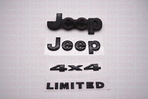 2014-2018 Jeep Grand Cherokee Gloss Black Nameplate Emblem 4x4 Limited OEM