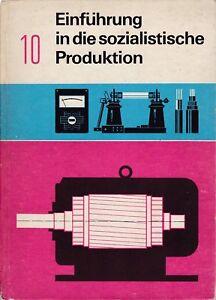 Einführung in die soz. Produktion Klasse 10 DDR Lehrbuch Volk und Wissen 1973