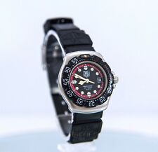 Sporty Ladies Formula-1 TAG HEUER Pro Diver's 200M Watch! Rare Black & Red Face