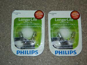 (2) NEW PACKS OF 2 PHILIPS LONGER LIFE 12256 DOME CARGO LIGHT BULBS 12256LLB2