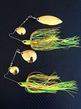 2X PFS 1/2oz Bass Pro Shops Spinnerbaits Fishing Lures Freshwater Spinners Baits