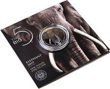 Südafrika 5 Rand 2019 Elefant Big Five 1 Oz Silbermünze in Farbe