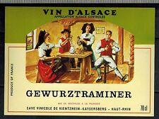 Etiquette de Vin - Alsace - Gewurztraminer - Haut-Rhin - Réf.n°278