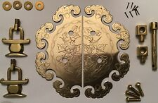 """6"""" Chinese Fortune Solid Brass Cabinet Door Pull Knocker Furniture Hardware"""