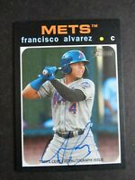 2020 Topps Heritage Minor League Francisco Alvarez Mets Real One Auto Card