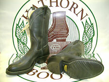 "White's Boots Hathorn Rancher Western Pull-on Black Chromexcel 12"" top size 8 B"