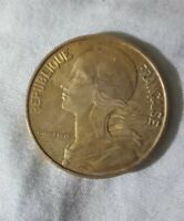 1964 France 20 centime  Republique Francaise Coin Liberte Egalite Fraternite