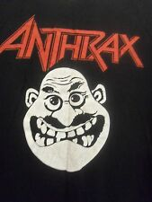 ANTHRAX men's M graphic laughing face black