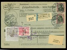 1915 FISCAL/Revenue,King Carol +Timbru Ajutor,Germany to Romania,Parcel/Packet