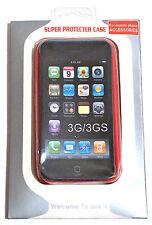 CUSTODIA RIGIDA RETRO TRASPARENTE BORDO ROSSO COVER - IPHONE 3G/3G S