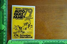 Alter Aufkleber Verkehr Technik Auto Quiz Fahrt 1979 AvD Schwaben International