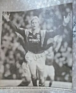 Original Hand Signed Press Cutting- ERIK BO ANDERSEN- Footballer Action photo