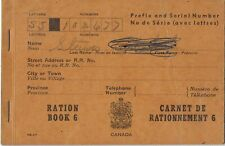 CANADA WWII Ration Book 6 plus some additional stamps cgb